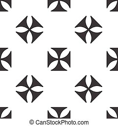 Maltese cross pattern - Image of maltese cross, repeated on...