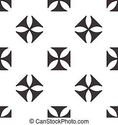Maltese cross pattern - Image of maltese cross, repeated on...