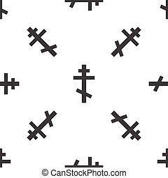 Orthodox cross pattern - Image of orthodox cross, repeated...