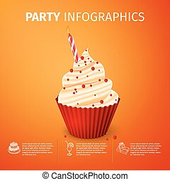 party infographics - Party Poster Template with Birthday...