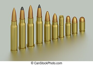 Bullets - 3D rendering of the bullets