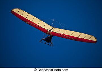 Hang Glider High in the Sky - Hang GLider in Sky Over Byron...