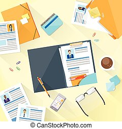 Human Resouce Working Place Desk Documents Curriculum Vitae...