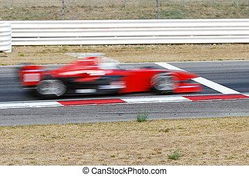 finish line - race car crosses the finish line