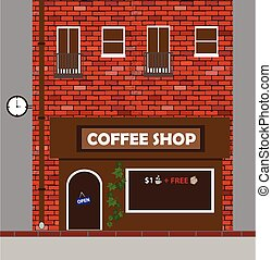illustration of a house with a bakery