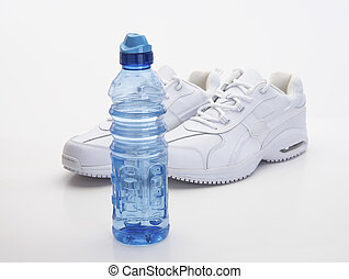 White Shoes and Water Bottle