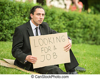 Unemployed man
