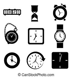Time design - Time design over white background, vector...