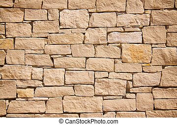 Stone wall background - Provencal brick stonewall background