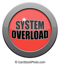 System Overload Dark Metal Icon - A system overload i