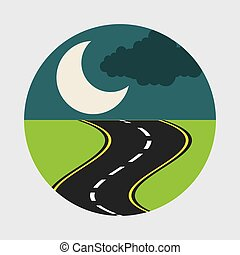 road concept design, vector illustration eps10 graphic