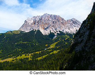 Zugspitze Mountain - South face of the highest mountain in...