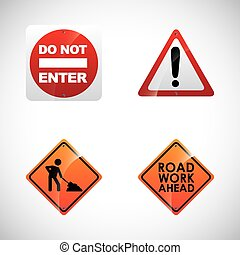 road signals design, vector illustration eps10 graphic