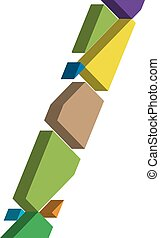 3d font symbol - Colorful three-dimensional font Symbol