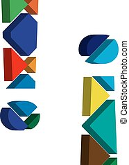 3d EXCLAMATION MARK symbol - Colorful three-dimensional...