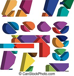 3d font symbol - Colorful three-dimensional font Symbol