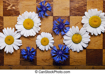 Abstract flowers chessboard - a Abstract flowers chessboard...