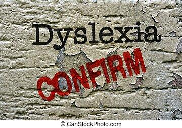 Dislexia, confirmar,
