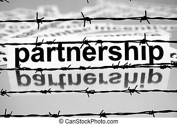 Partnership nad barbwire concept