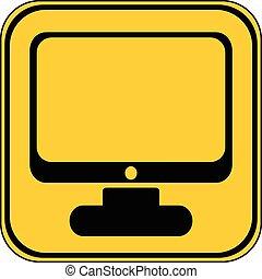 Computer button.