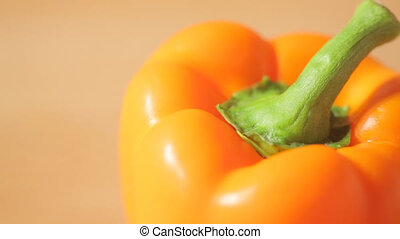 Close view of a bell pepper - Slider closeup view of a bell...