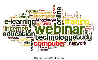 Webinar in word tag cloud