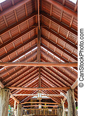 Wooden roof structure
