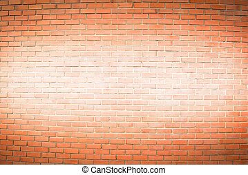 brown brick wall has painted white in the middle for texture background
