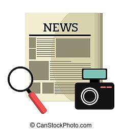 Journalism Design. - Journalism design over white...