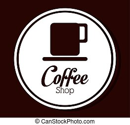 Coffee design - Coffee design over brown background, vector...