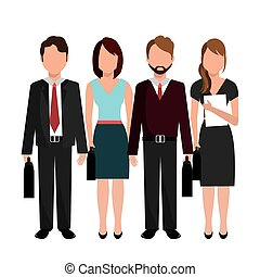 Teamwork design. - Teamwork design over white background,...