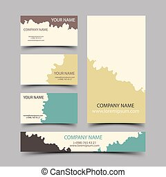 Paintball cards set, vector illustration for your design,...