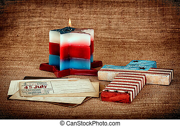4th of July Happy Independence Day - Patriotic Background...