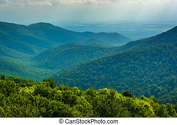 View of the Blue Ridge Mountains from Blackrock Summit in...