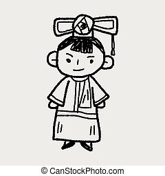 Chinese woman doodle