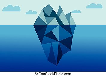 iceberg theory plan business vector