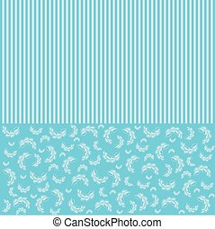 Vector blue Floral and Invitation Background Template