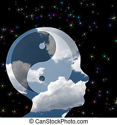 Yin Yang Head in Clouds - Head in the clouds