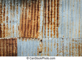 Rusty corrugated metal wall - Rusty corrugated galvanize...