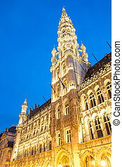 Grand Place Belgium - Grand Place Brussels, Belgium at dusk