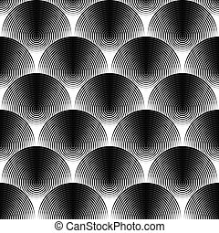 Design seamless monochrome ellipse pattern. Abstract...
