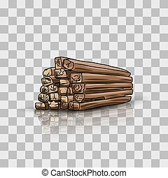 Wooden storage, vector illustration for your design, eps10