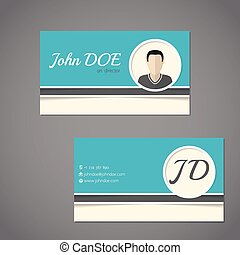 Business card design with front and back side