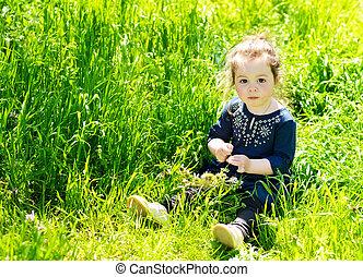 girl in spring day