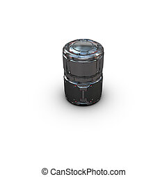 sci fi military barrel on white background - high quality 3d...