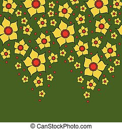 0415_13 lent lily yellow9 - Templates vector narcissus...