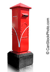 Thailand post box isolated, clipping path - Thailand post...