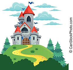 Fairy tale castle theme image 2 - eps10 vector illustration