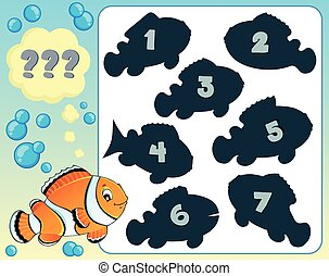 Fish riddle theme image 8 - eps10 vector illustration.