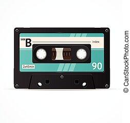 Vector Blue Cassette Tape isolated - Vector Illustration...